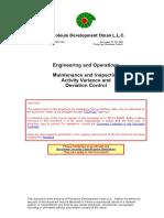 PR-1005 - Maintenance and Inspection Activity Variance Control Procedure