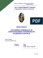 Proiectul de Statistica MTC 2015