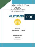 Proposal Penelitian Skripsi Pt. Pln (Persero) Litbang Ketenagalistrikan