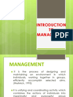 Introduction in Management