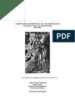 Cementerio Disidentes y Ley de Inhumacion