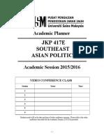 Academic Planner 20152016