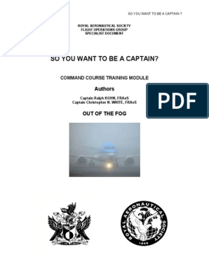 So You Want to Be a Captain | Pilot (Aeronautics) | Aviation