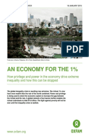 An Economy For the 1%: How privilege and power in the economy drive extreme inequality and how this can be stopped