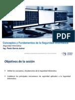 USIL 2.-Seguridad Informatica - Conceptos y Fundamentos de Seguridad Informatica
