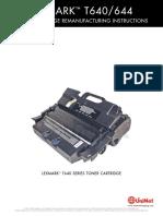 Lexmark T640 644 Reman Eng