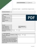 Lunchtime Supervisor Form