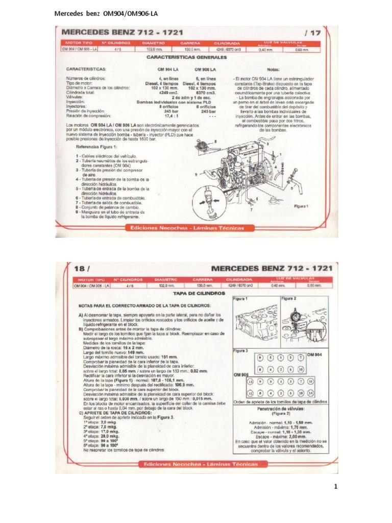 159711500 mercedes benz om904 om 906 la pdf rh scribd com manual mercedes om 904 manual de taller motor mercedes benz om 904
