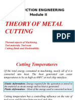 Thermal Aspects in Metal Cutting