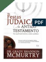 Livro as Festas Judaicas Do Antigo Testamento Dr Grady SHannon Mcmurtry