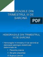 Hemoragiile Trimestrul III