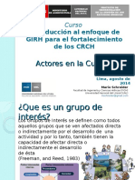 Mapeo de Actores - Peru Agosto 2014