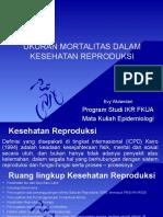 Ukuran Mortalitas Dalam Kesehatan Reproduksi