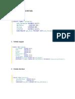 CREAREA TABELELOR SQL