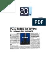 20 Minutes.fr MEDEF Pierre Gattaz - 4 Juillet 2013