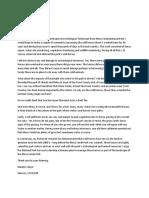 MESA VERDE Biologist Letter