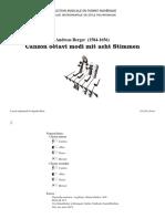 Canzon octavi modi mit acht Stimmen / Andreas Berger