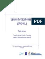 Sensitivity Analysis Sensi Usnccm 03