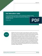 Aid Allocation Rules Non Technical Oct 2014