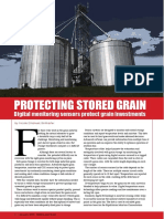 Protecting stored grain - Digital monitoring sensors protect grain investments