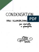 Condensation for clarinet and piano - Drei Klangbildungen - music of giorgio tedde