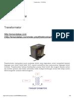 Transformator « TUTORIAL