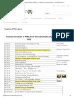 PIM Lahore Courses