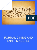 Lecture3_Formal Dining and Table Manners