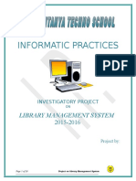 Project Report Library Management System