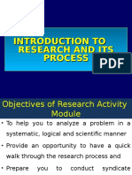 Introduction to Research & Research Process