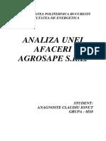 Analiza Unei Afaceri - Agrosape SRL 2