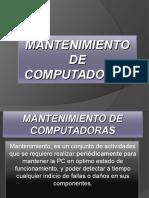 Proyecto de Mantenimiento de computadoras
