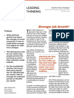 Stronger Job Growth*