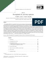 Prostaglandin D2 and Sleep Regulation