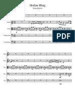 Partitura cuarteto cuerdas Bling Drake
