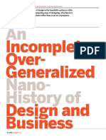 An Incomplete Overgeneralized Nano-History of Design in Business