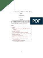 La Teoria Dei Metalli Di Sommerfeld-Fermi, Parte I