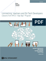 Connecting Teachers and Ed-Tech Developers