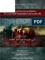 Safety and Security Guidelines for Lone Wolf Mujahideen