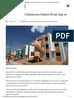 10 - 01 - 2016 Coloca Sociedad Hipotecaria Federal 94 Mil Mdp en 2015 - Despertar de Oaxaca Despertar de Oaxaca