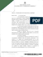 Sentencia Juzgado federal Civil y Comercial 7