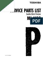 Parts Manual Toshiba Finiser Mj1106-Spl-V00