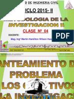 CLASE 04 2015 II Formulacion Del Problema Final