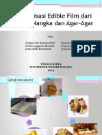 Edible film dari ekstrak biji nangka dan agar