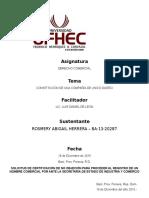 Constitucion de Una Compañia de Unico Dueño - Ufhec