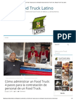 Cómo Administrar Un Food Truck
