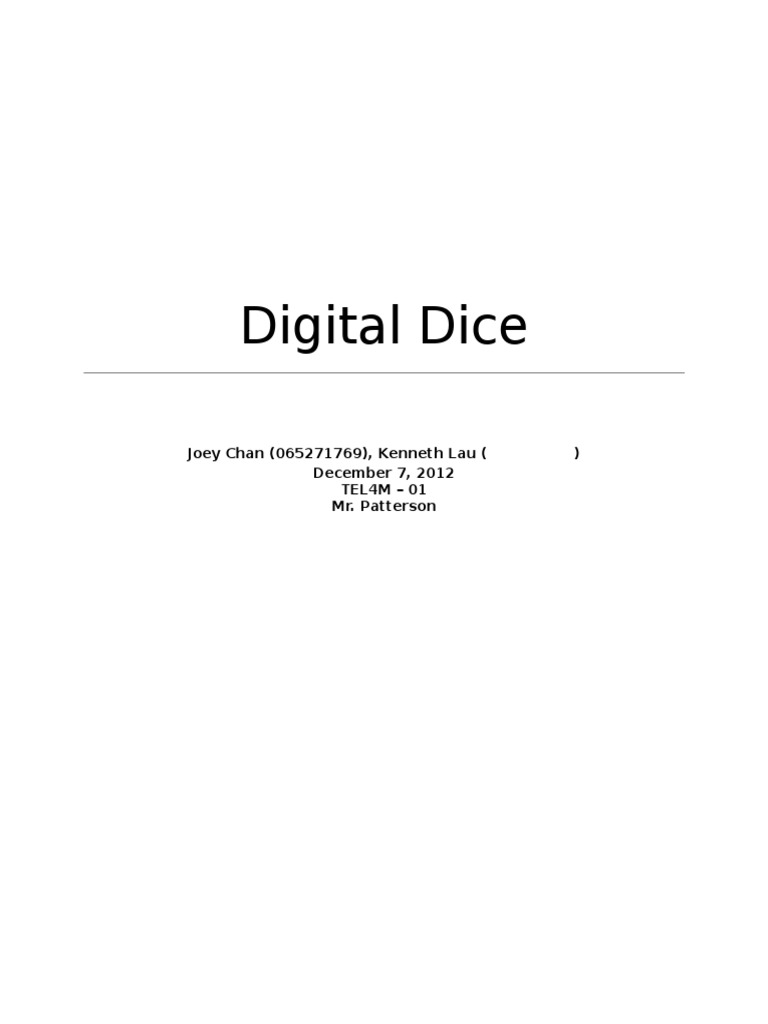 Digital Dice Electronics Electronic Circuits Circuit Wiring Diagrams