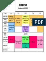 Schedule II-2nd Sem