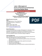 Syllabus Introduction to Business