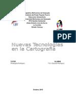 Informe Nuevas Tecnologías en La Cartografía Informe